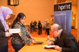 Rushdie booksigning (close) - Inprint 11.9.15